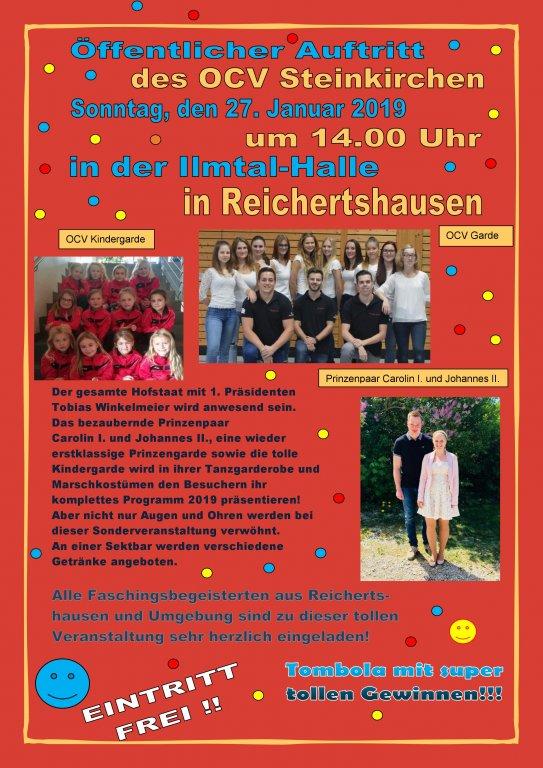 Öffentlicher Auftritt des OCV Steinkirchen